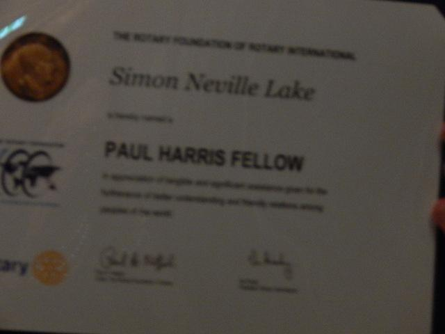 PAUL HARRIS FELLOWSHIP -
