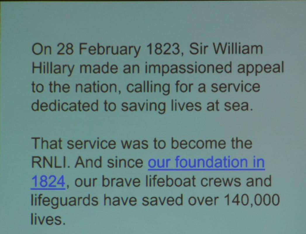 An Overview of the RNLI - Coventry Branch -