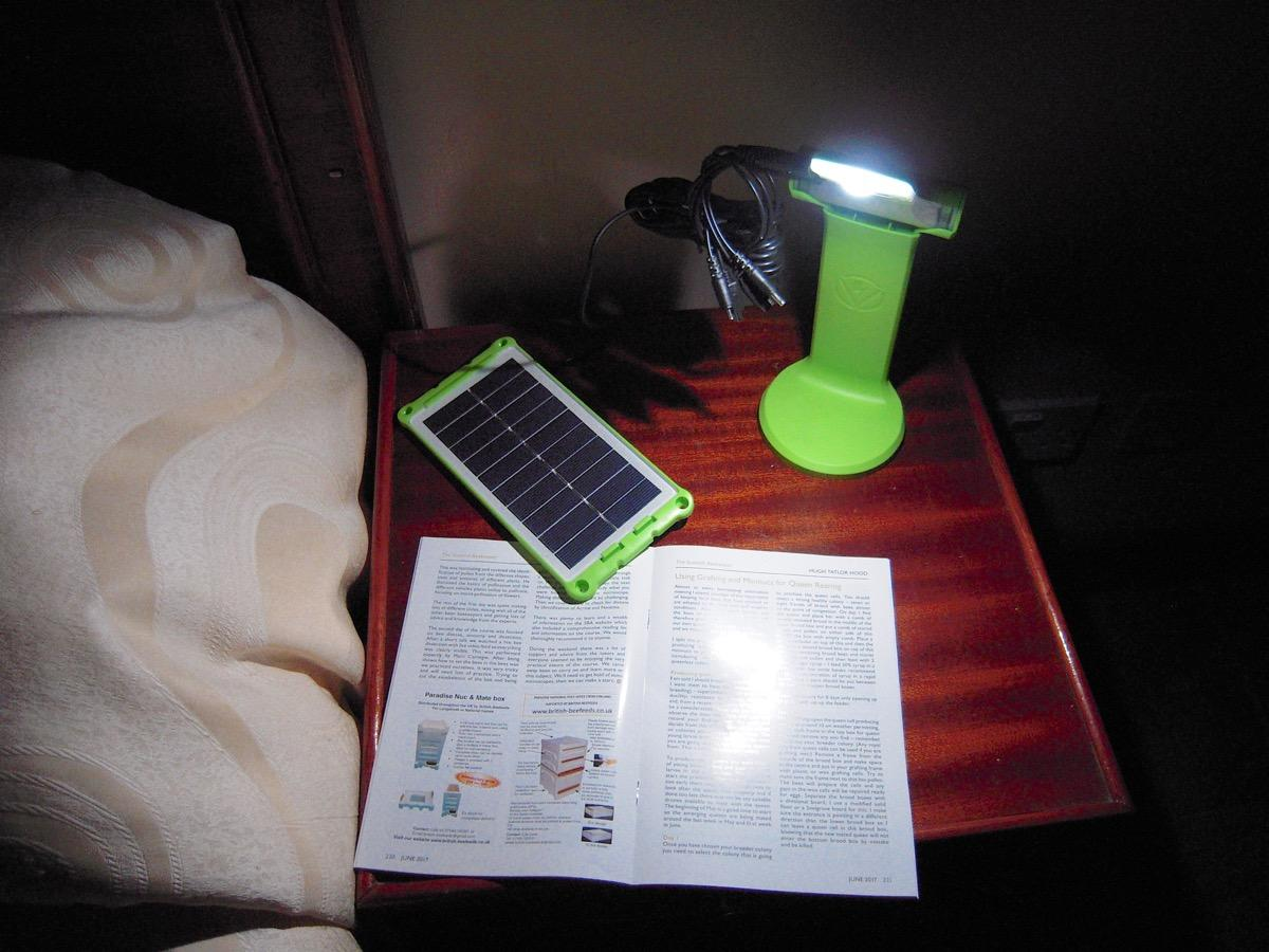 Helping across the world - Reading at night is longer a problem - solved for £6.50
