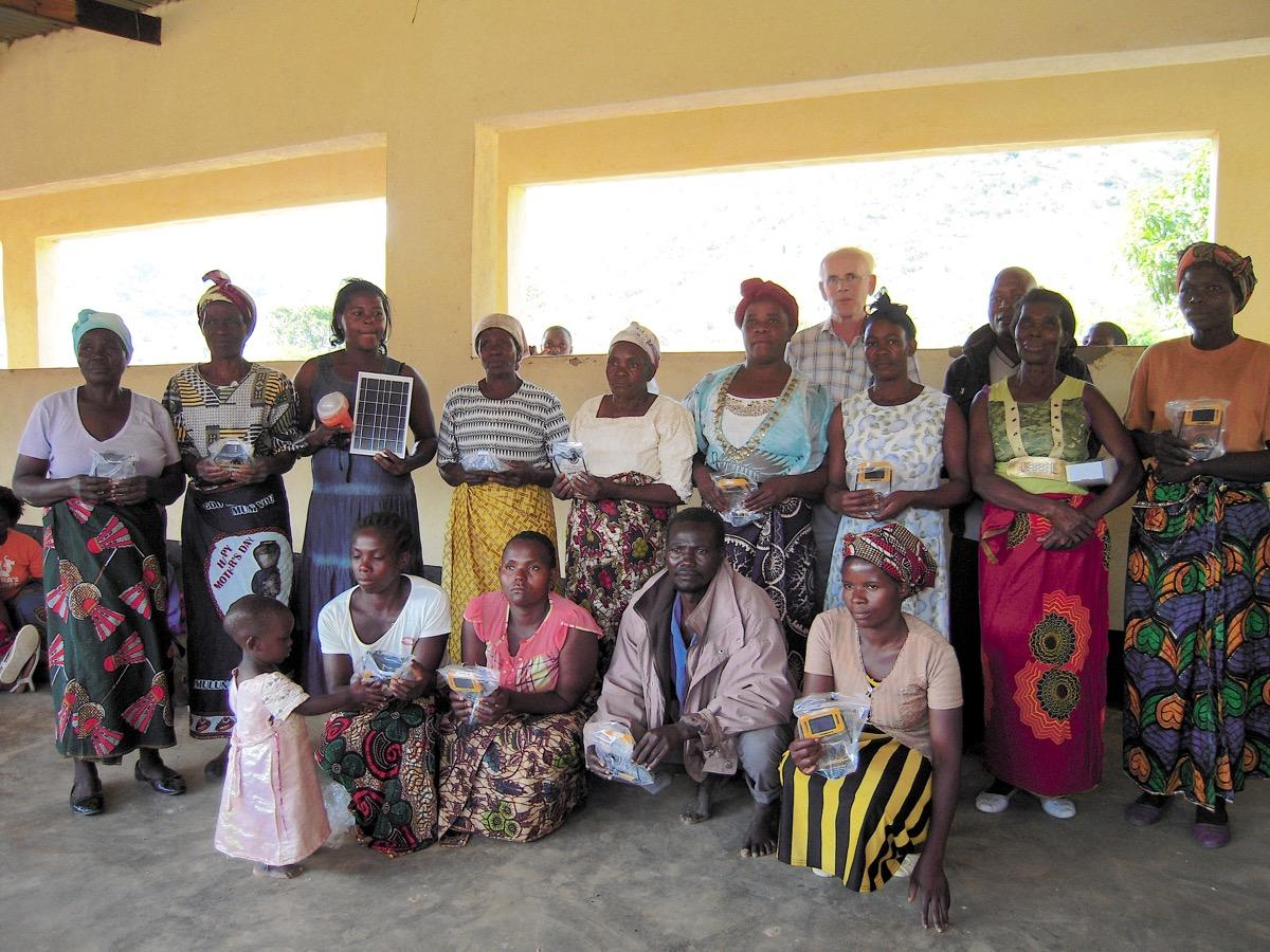 Helping across the world - all the beneficiaries at Mbongonda