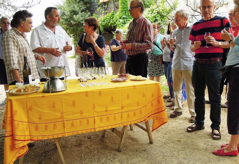 Fellowship events - Tasting Gigondas in the grower's drive!