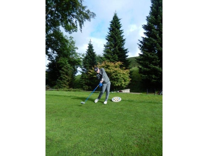 Young Golfer of the Year Competition 2016 - Tee shot in action