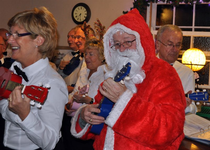 Ukulele Band - Even Santa got in on the act.
