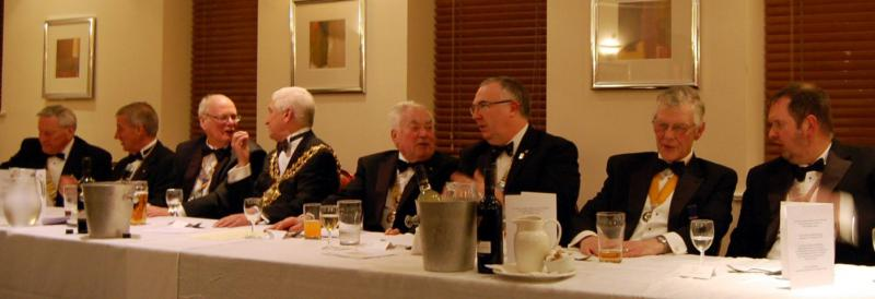 84th CLUB CHARTER ANNIVERSARY 2014 - Top table await  food service.