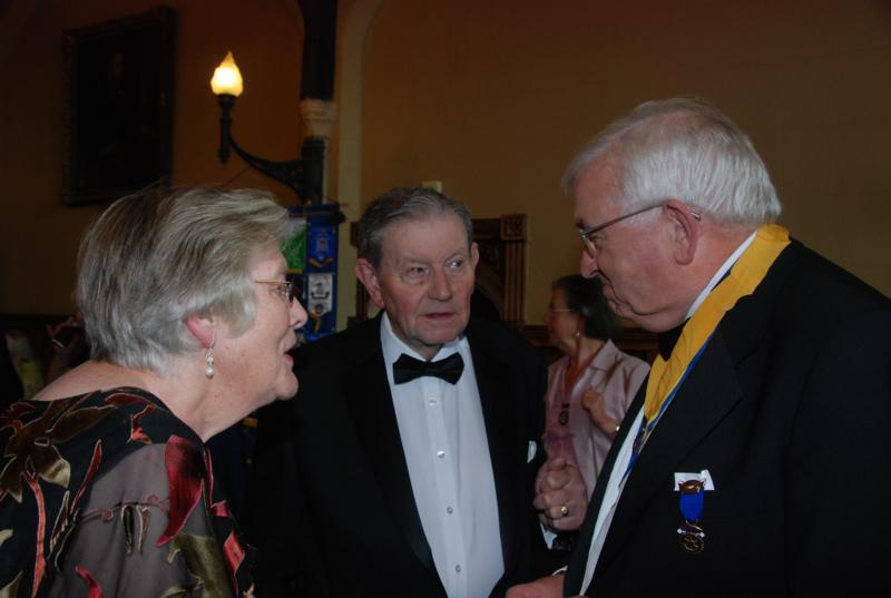 TRINITY GETS TO SILVER - PE Malcolm with Past Founder Member Ted Geeson and Margaret