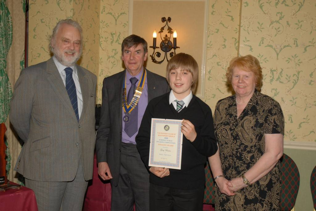 Young Speaker of the Year 11th March  2008 -