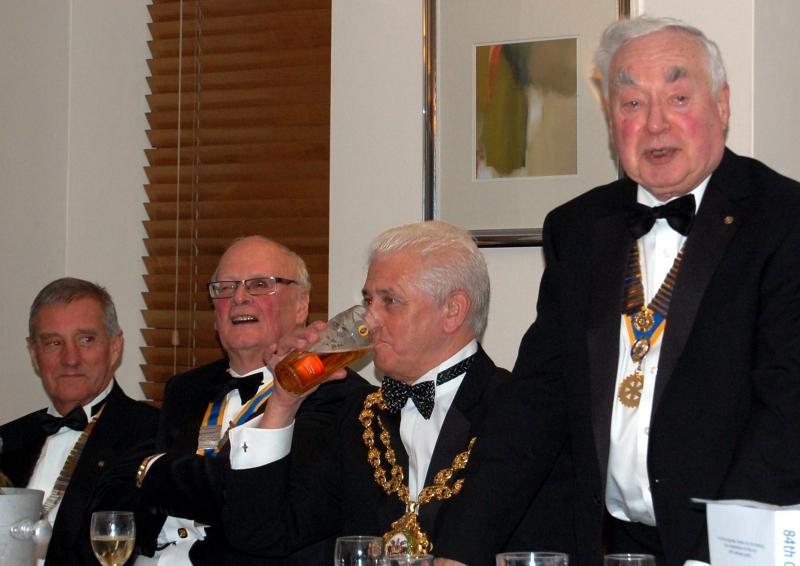 84th CLUB CHARTER ANNIVERSARY 2014 - President Derek welcomes Official Guests and Everyone.