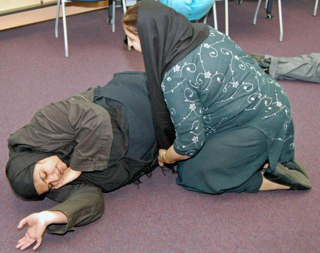 HEARTSTART OLDHAM - An unconsious causualty who is still breathing should be place in the recovery position,