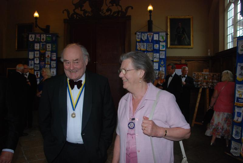 TRINITY GETS TO SILVER - Jane Harding - President of Swaffham with Ian