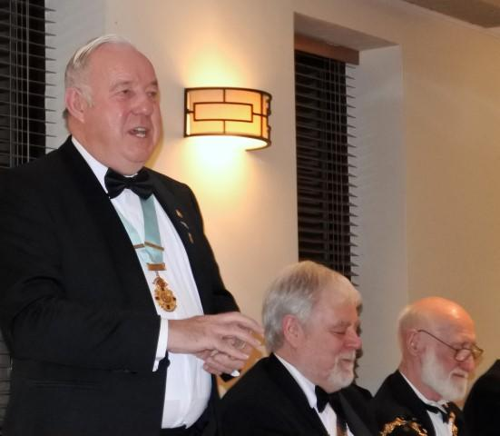 87th Charter Anniversary 2017 - DISTRICT GOVERNER STAN PROPOSES THE TOAST ROTARY INTERNATIONAL