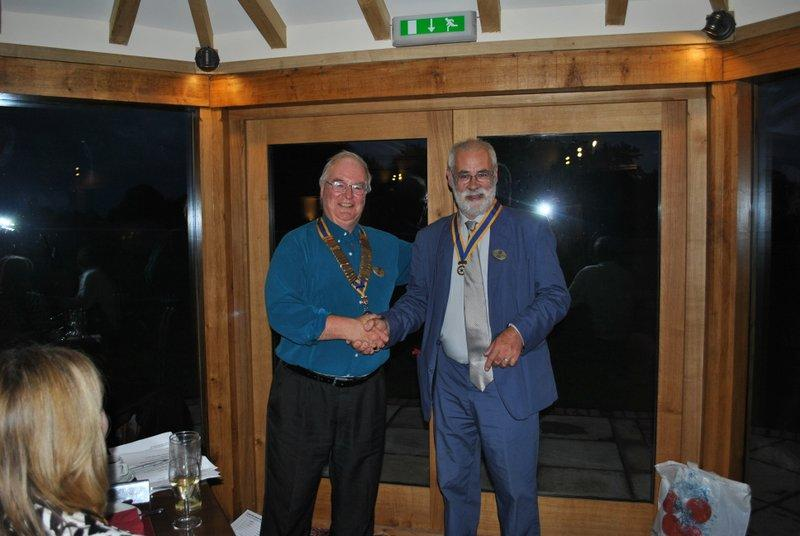 Club Handover at the Temeside Inn near Tenbury - Clive wiill have a busy year ahead preparing for 2013-14