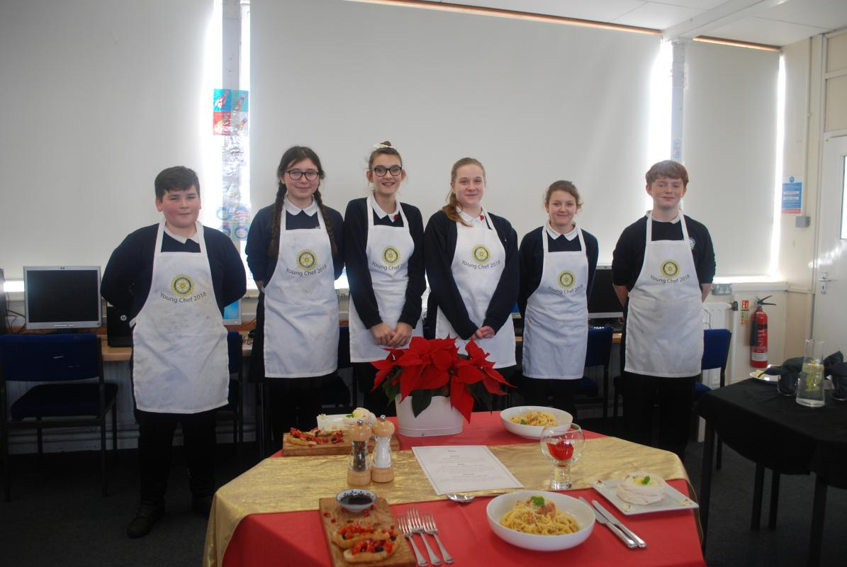 Rotary Charity Shop 2017-18 and Young Chef Competition 2018 -