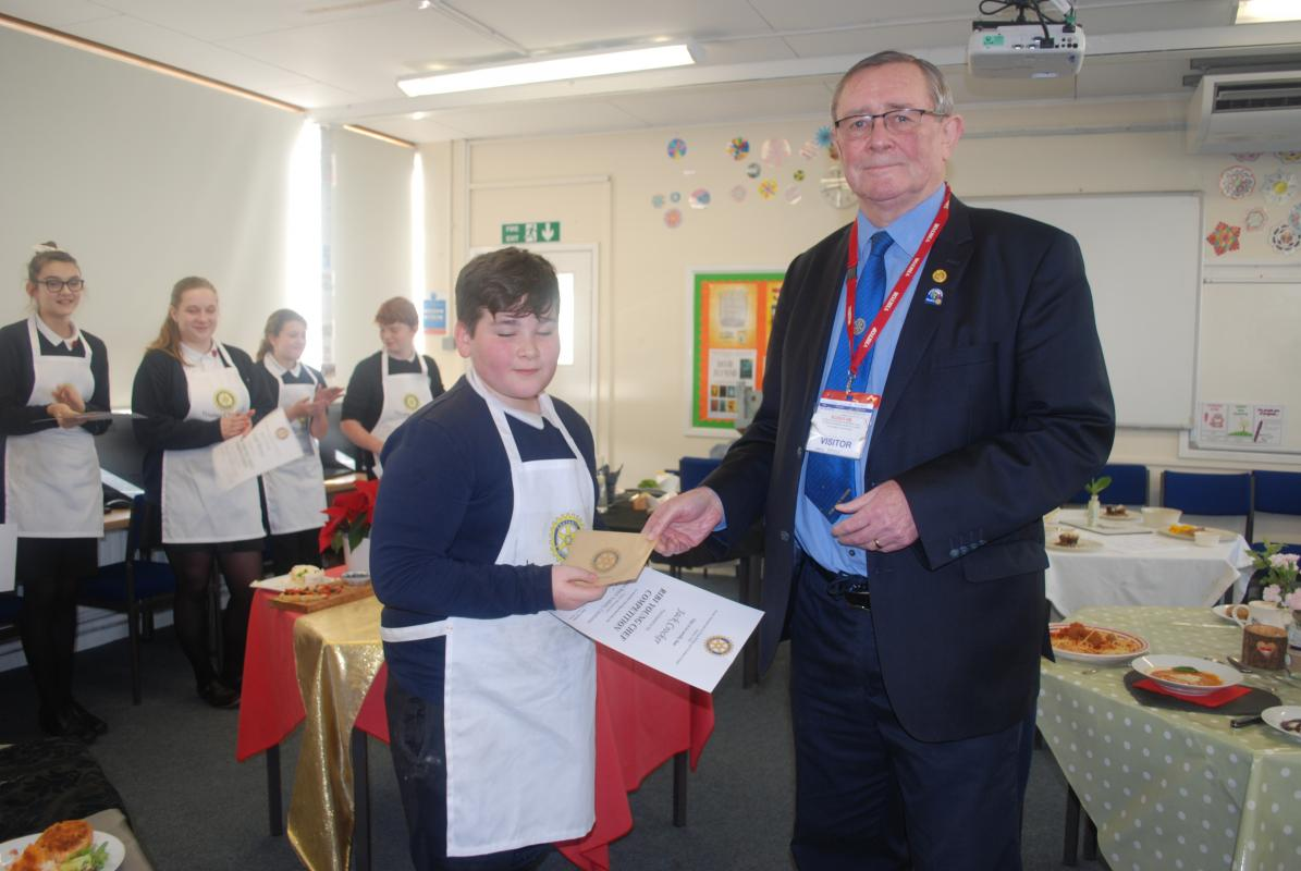 Rotary Charity Shop 2017-18 and Young Chef Competition 2018 - Jack Crocker - Specially mentioned