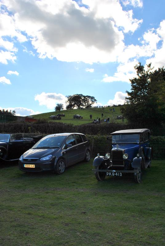 Car Rally parking for the VSCC near Whitton - hill climb in background 3