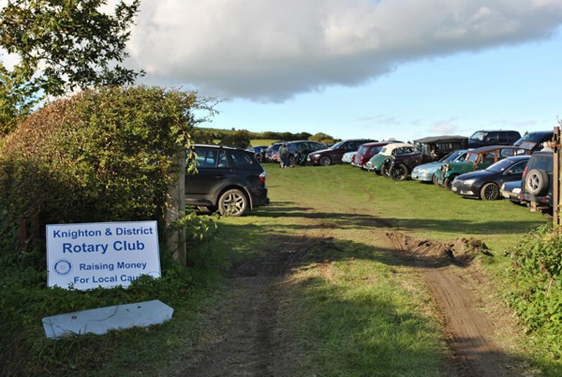 Car Rally parking for the VSCC near Whitton - Lower field parking