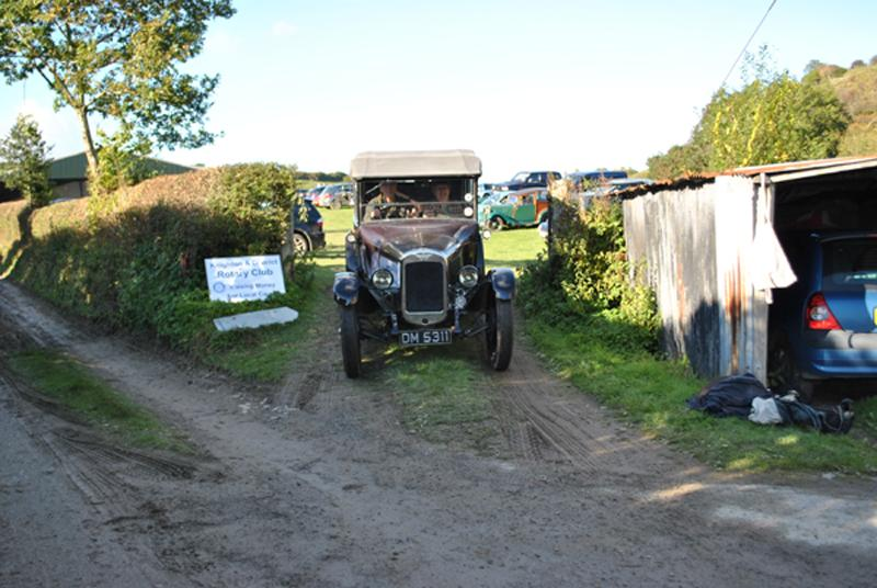Car Rally parking for the VSCC near Whitton - Going home 6
