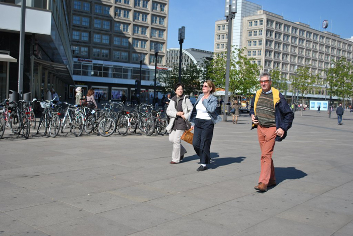Berlin jaunt April 2012 - Striding out - Dorothy,Trixie and David.
