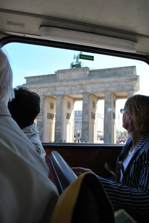 Berlin jaunt April 2012 - Brandenburger Tor as seen from the tour bus