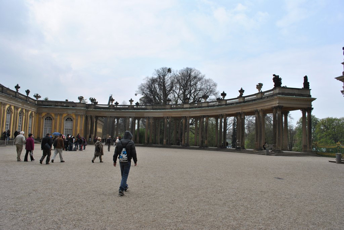 Berlin jaunt April 2012 - View across with palace on left and gardens on the right.
