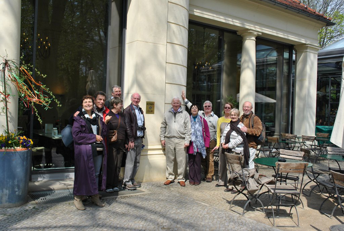 Berlin jaunt April 2012 - at the Movenpick Restaurant still in the Sanssouci Park complex.