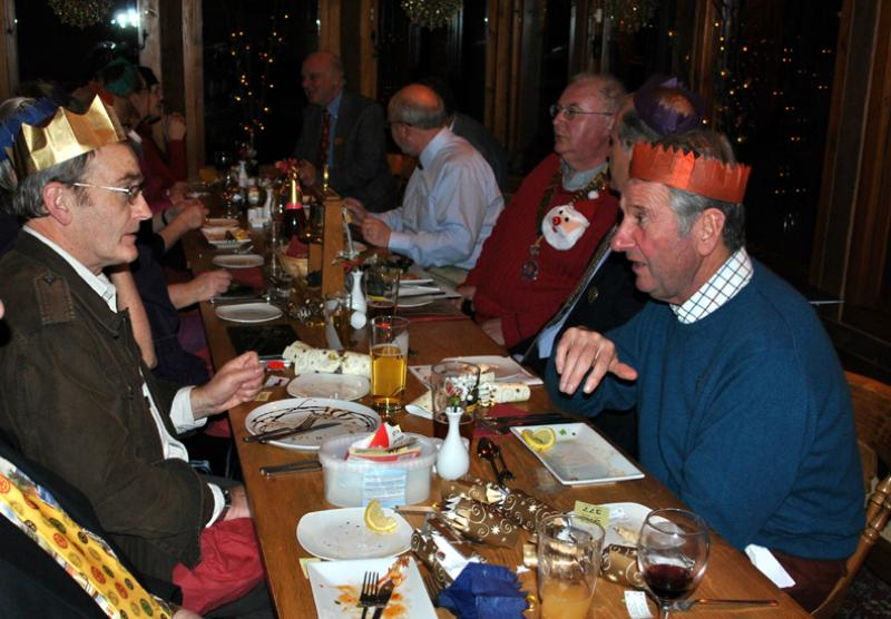 Christmas dinner at the Baron 7 for 7.30pm  - The two Dave's in conversation