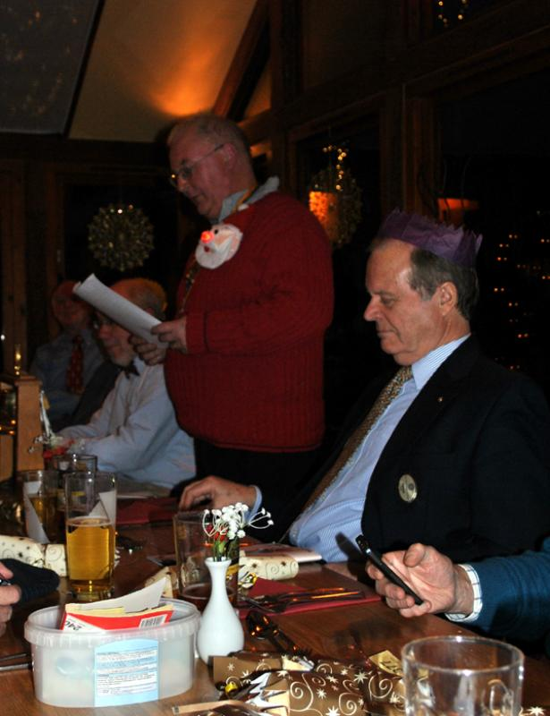 Christmas dinner at the Baron 7 for 7.30pm  - AHH - those one-liners