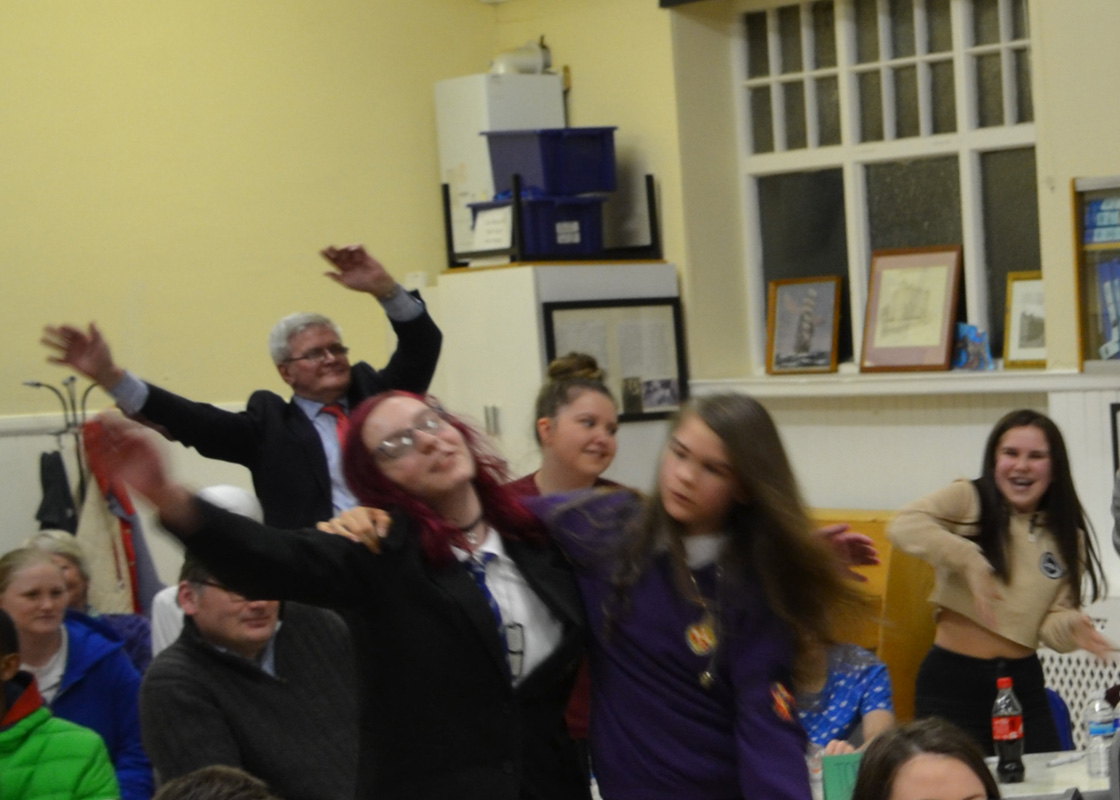 The Sandy Wilson Quiz - Rotarian Alastair Robertson joins in the singing and dancing