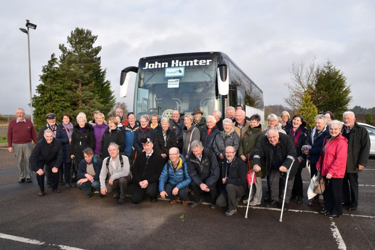 Social weekend at Beamish - November 2018 - Heading for Bamburgh Castle on Remembrance Day