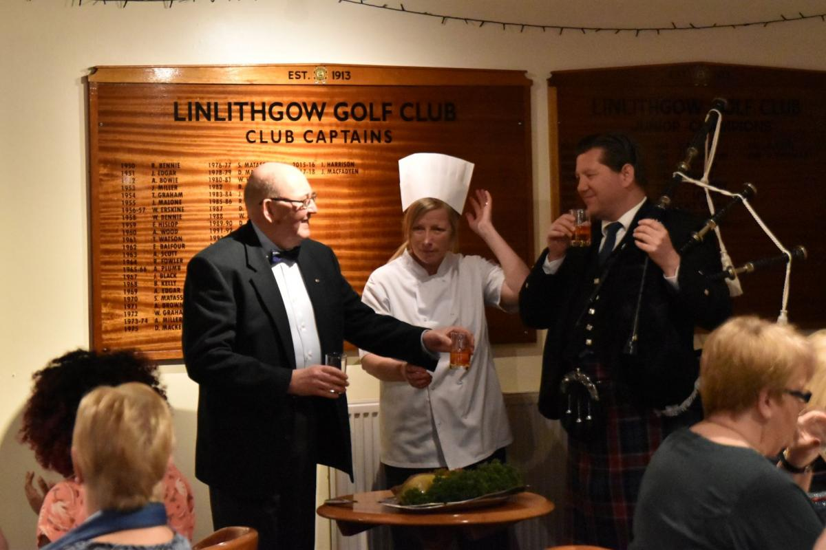 Scots Night January 2019 - Alistair Rennie gives the Toast to the Haggis