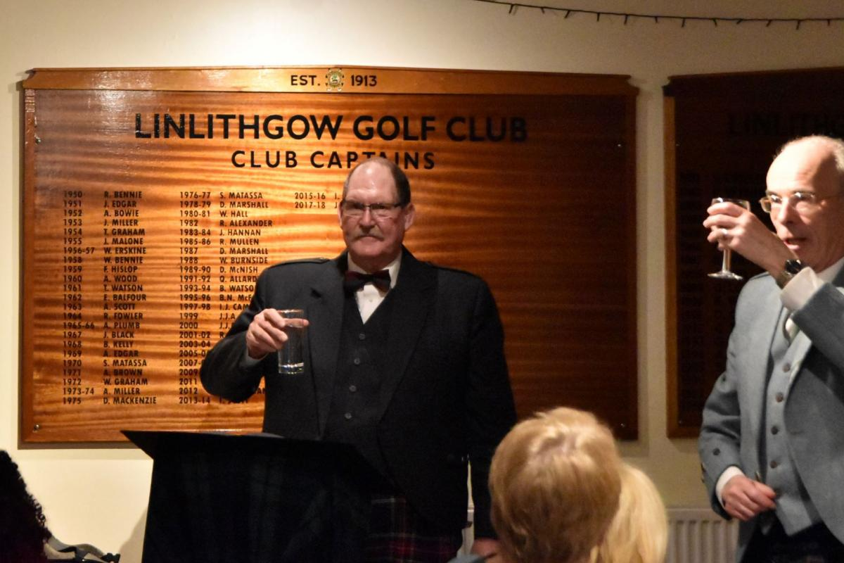 Scots Night January 2019 - David Hale giving the Toast to the Lassies