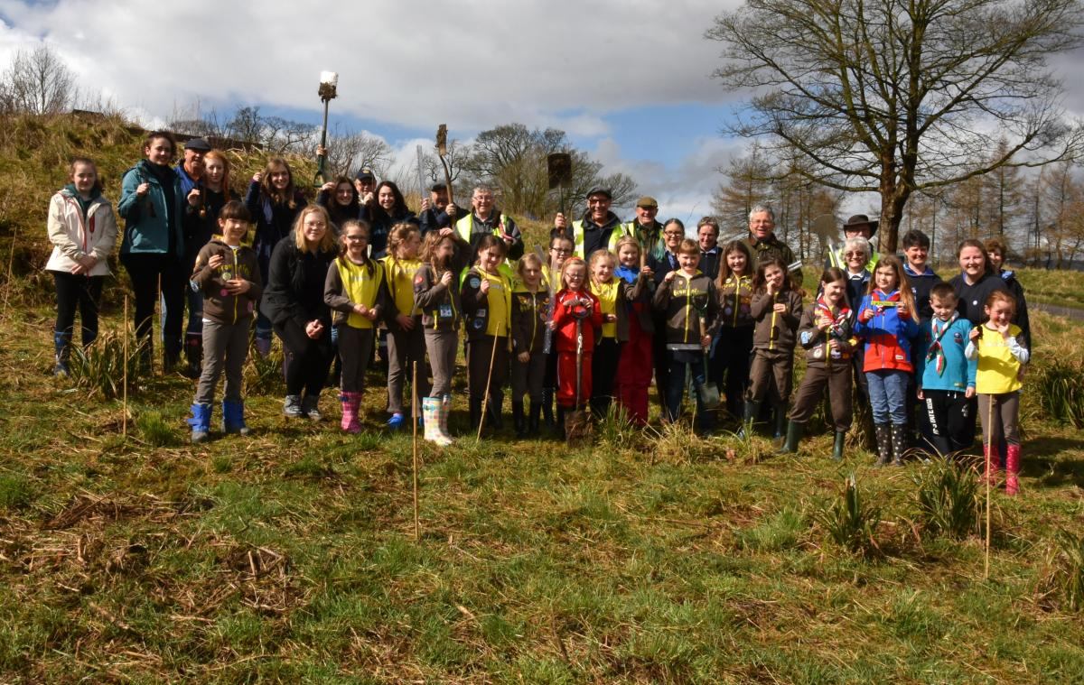 Easter Tree Planting in Clitheroe - Waddow Hall