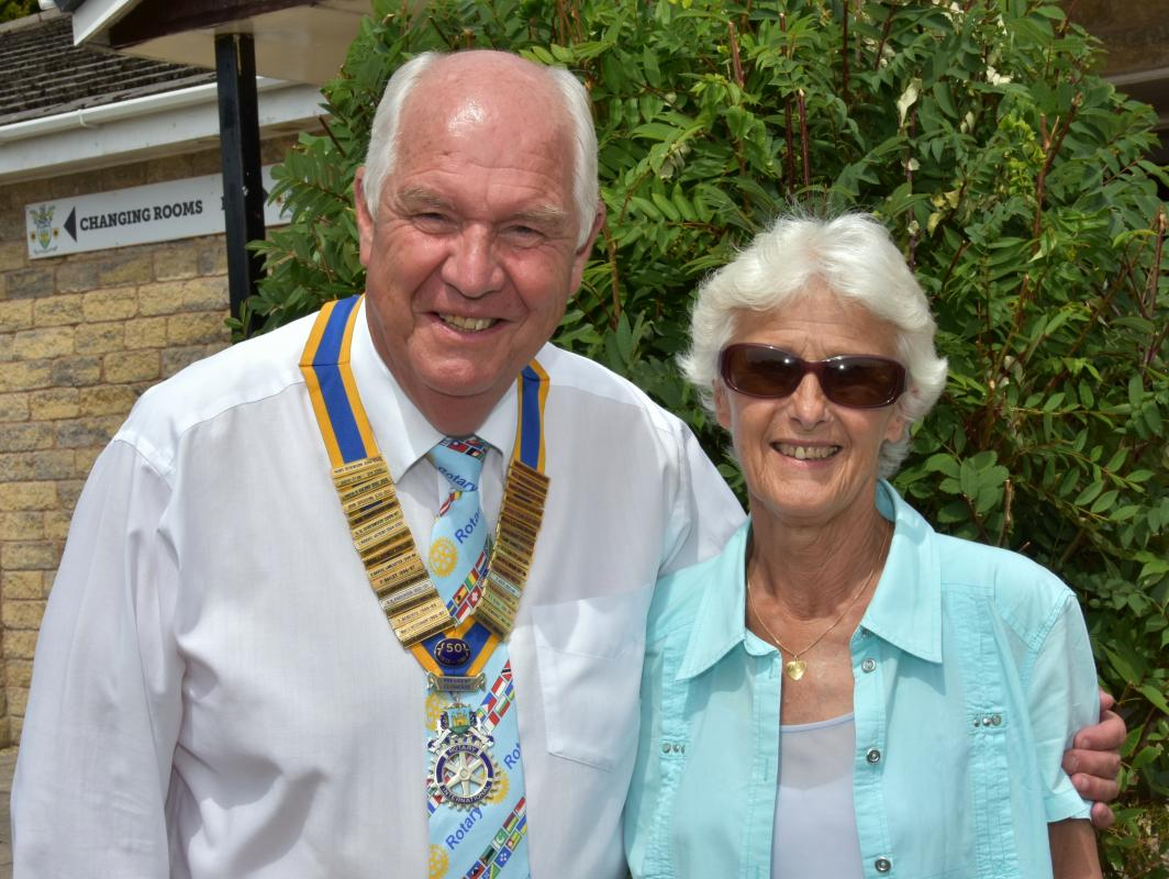 New Year's day @ Clitheroe Rotary - President Sandy with his Wife Heather