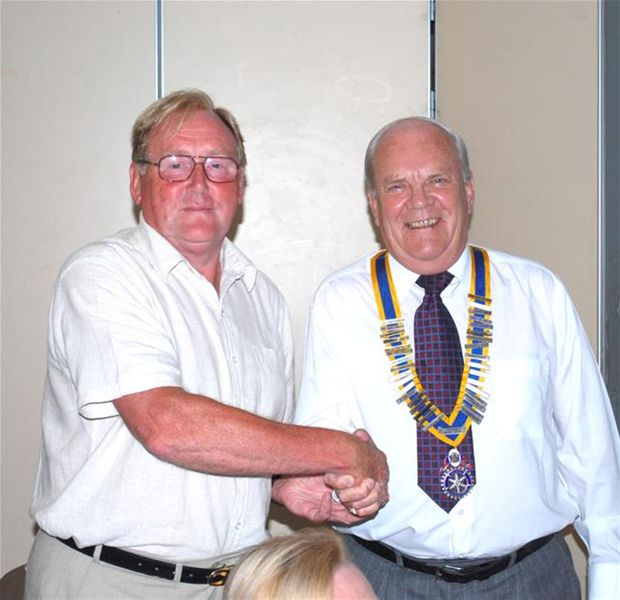 2010-11 Handover Pictures - 2010-11 President Iain McIlvaine and Immediate Past President Dick Taylor