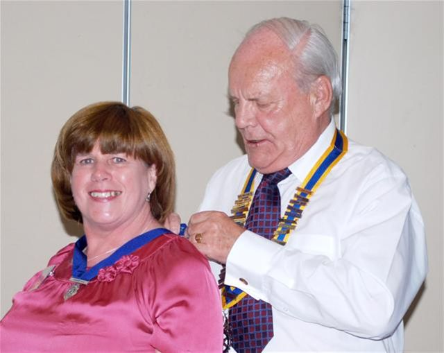2010-11 Handover Pictures - President Iain McIlvaine with Junior Vice President Mary Cantillon