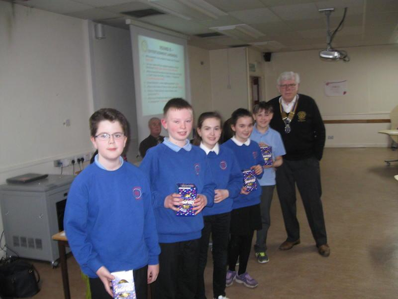 Primary School Quiz 2016 - Danestone receive their Easter eggs