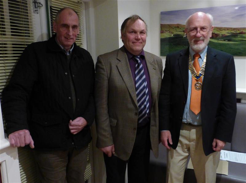 David Lambert inducted as Member - David Lamberts with President John Morton and Tim Raw who introduced him.