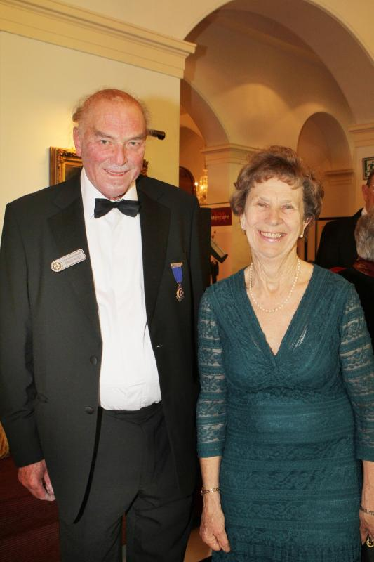 Cheltenham North Charter Anniversary Dinner 26th April 2012 - David and Mary-Ann Rust