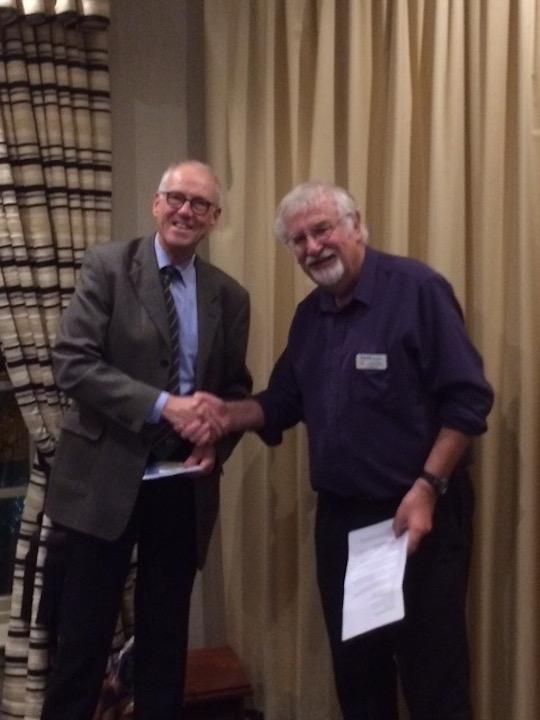 RCAD Welcomes two new members. - David, being inducted by President Dave Gordon.