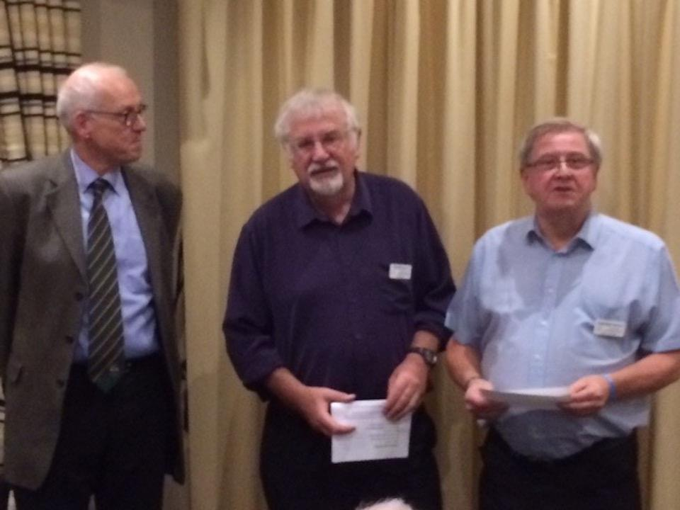 RCAD Welcomes two new members. - David, being introduced by Rotarian Gordon Skinner.