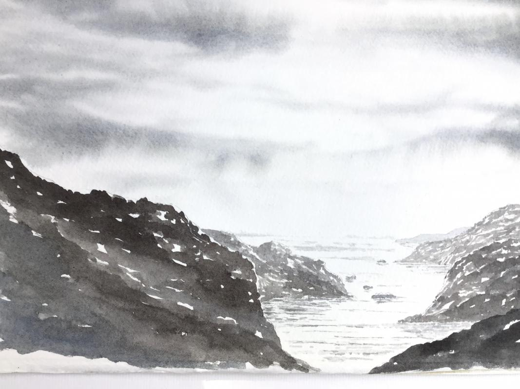 VIRTUAL OPEN ART EXHIBITION - Original Watercolour U/f 12x8