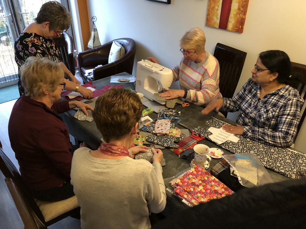 Days for Girls - Erica Hardy assists ladies form Rotary and Inner Wheel with the Days for Girls project
