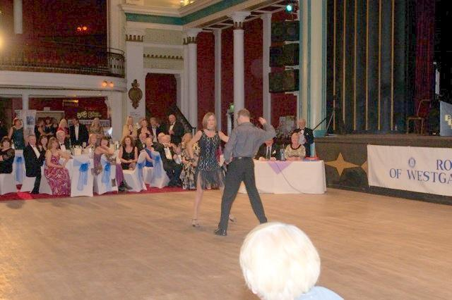 Strictly Come Rotary Dance Competition - Dean and Sally Martin dancing the Cha=Cha-Cha