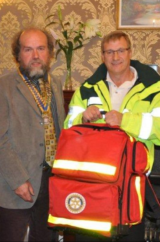 Music and Curry Evening - Tony arrives with the First Responders' kit