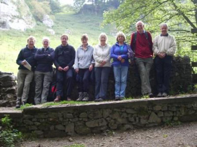 Derbyshire Walking Trip - A resting point in Wolfscotedale