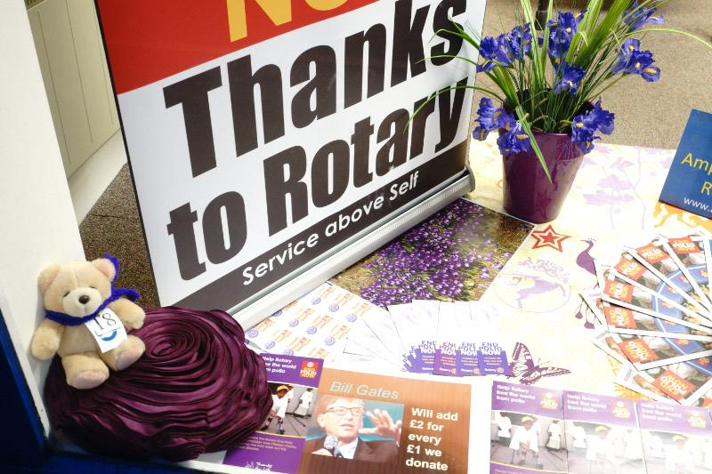 Painting the Town Purple for End Polio Now -