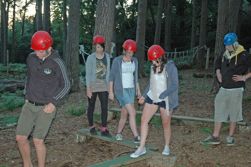 RYLA Courses Summer 2011 - A low Ropes exercise at the July RYLA Course organised by Rotary Wessex