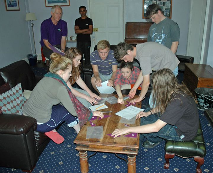 RYLA Courses Summer 2011 - A Rotarian led communication exercise on the August RYLA course organised by Rotary Wessex