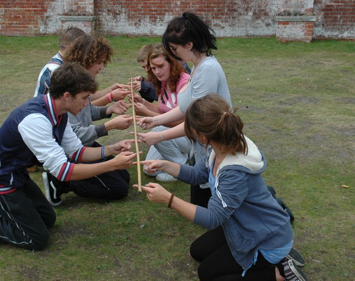 RYLA Courses Summer 2011 - A Rotarian led problem solving exercise called Bamboo on the July RYLA course organised by Rotary Wessex