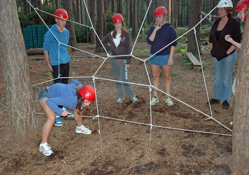 RYLA Courses Summer 2011 - A Low Ropes exercise on the August RYLA course organised by Rotary Wessex