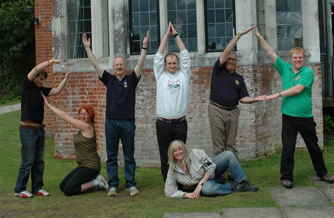 RYLA Courses Summer 2011 - In a lighter moment the course organisers and facilitators spelling